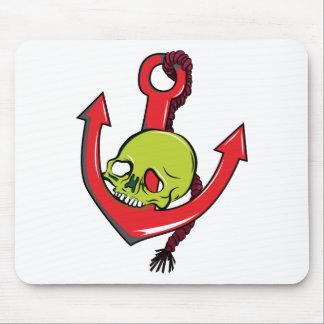 Skull ~ Anchor Tattoo Skull Fantasy Art Mouse Pads