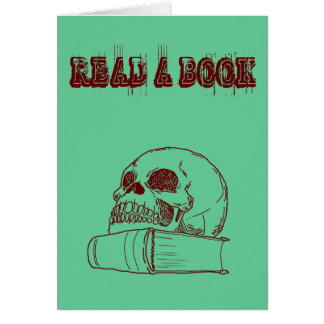 Skull and a book card