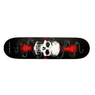 Skull and Barbed Wire Skateboard