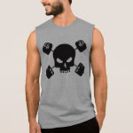 Skull and Barbell Cross Shirt for Lifters