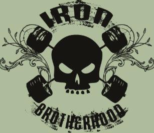 5f6ab3176c3e4b Skull and Barbell - Iron Brotherhood Shirt