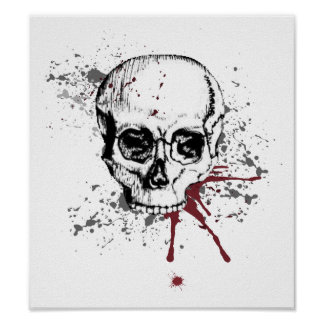 Skull and blood poster