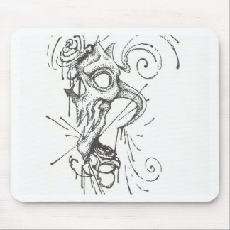 Skull and Blood Roses Mouse Pad