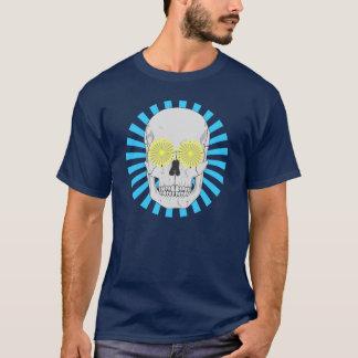 SKULL AND BLUE SUNBURST T-Shirt