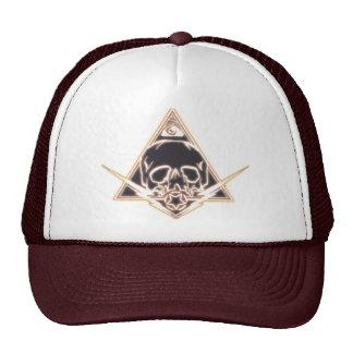 skull and bolts trucker hat