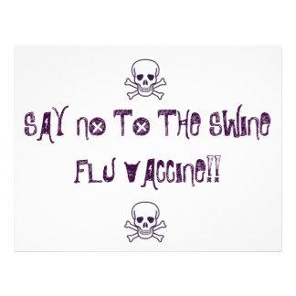 ", skull and bones 2_1, SAY NO To The Swine Flu ... 8.5"" X 11"" Flyer"