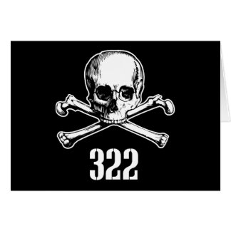 Skull and Bones 322 Card