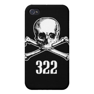 Skull and Bones 322 Cases For iPhone 4