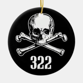 Skull and Bones 322 Ceramic Ornament