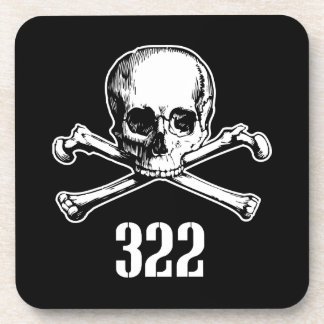 Skull and Bones 322 Beverage Coaster