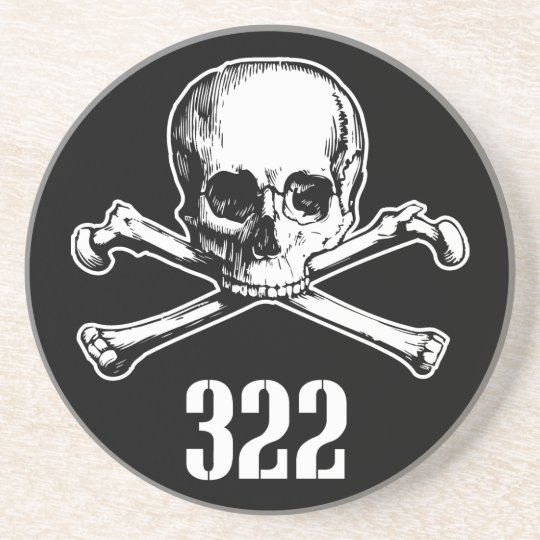Skull and Bones 322 Drink Coaster