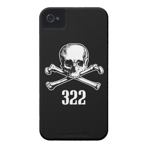 Skull and Bones 322 iPhone 4 Case-Mate Cases