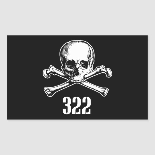 Skull and Bones 322 Rectangular Sticker