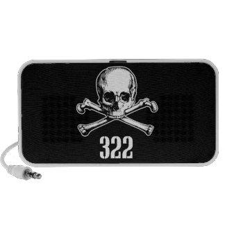Skull and Bones 322 Notebook Speaker