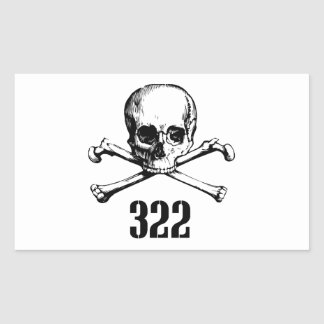 Skull and Bones 322 Rectangular Stickers