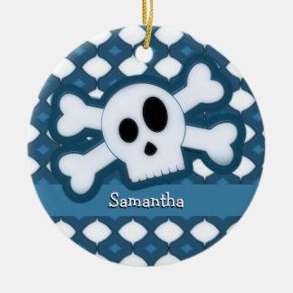 Skull and Bones – 5 Ceramic Ornament