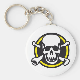 skull and bones and rock and roll keychain