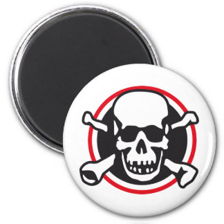 skull and bones and rock and roll magnet