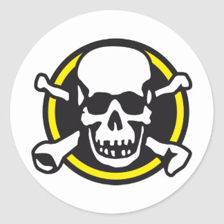 skull and bones and rock and roll stickers