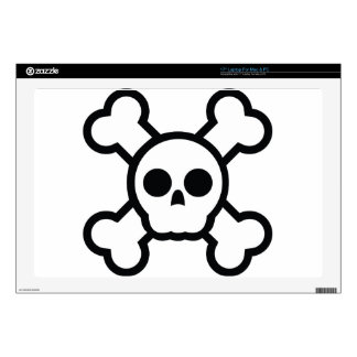 "Skull and bones Cool Design Decals For 17"" Laptops"