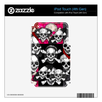 Skull and Bones Electronic Device Decals Skin For iPod Touch 4G