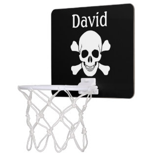 Skull and Bones Girl/Boy Mini Basketball Hoop