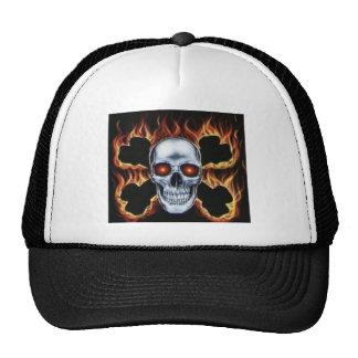 skull and bones mesh hat