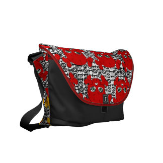 Skull and Bones Pattern Courier Bags
