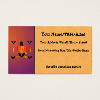 Skull and Bones Pumpkin Business Card