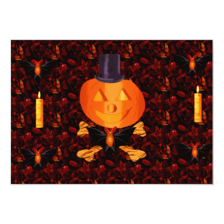 Skull and Bones Pumpkin Card