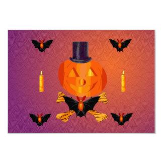 Skull and Bones Pumpkin 3.5x5 Paper Invitation Card