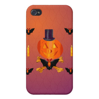 Skull and Bones Pumpkin iPhone 4 Cases