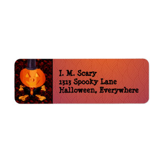 Skull and Bones Pumpkin Label