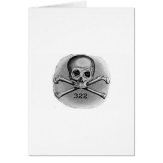 Skull and Bones Secret Society Illuminati Card