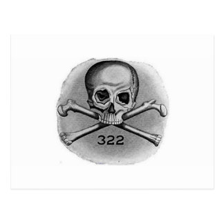 Skull and Bones Secret Society Illuminati Postcard