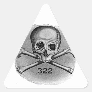 Skull and Bones Secret Society Illuminati Sticker