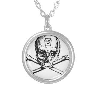 Skull and Bones - Secret Society Round Pendant Necklace