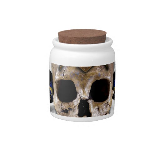 Skull  and Bones Square & Compass Black Candy Dish