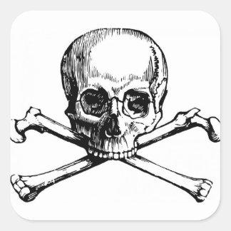 Skull and Bones Square Sticker