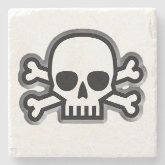 Skull and Bones Stone Coaster
