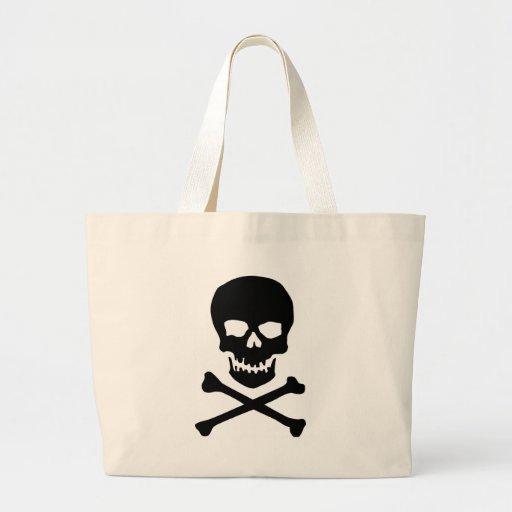 skull and bones tote bags