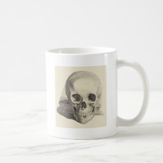 Skull and Book Classic White Coffee Mug