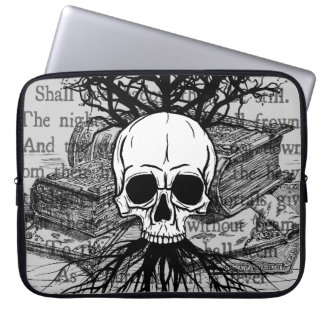 Skull and Books Computer Sleeves