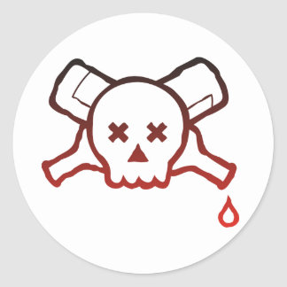 Skull and Bottles - sticker