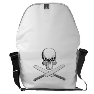 Skull and Bread Knives Courier Bag