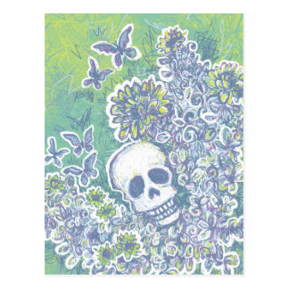 Skull and Butterflies Postcards