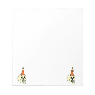 Skull And Candle Notepad