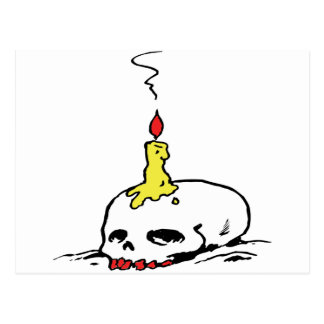 Skull and Candle Postcard
