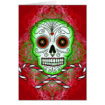 Skull and Candy Canes Card