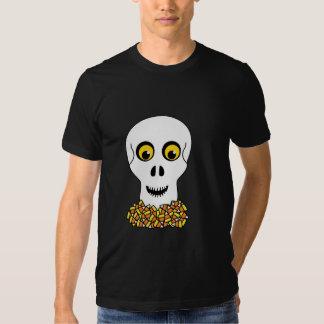 Skull and Candy Corn Halloween T-Shirt
